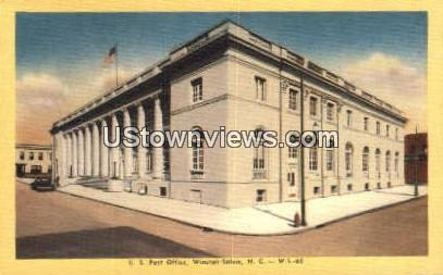 US Post Office - Winston-Salem, North Carolina NC Postcard