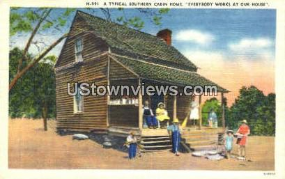 Southern Cabin Home - Misc, North Carolina NC Postcard