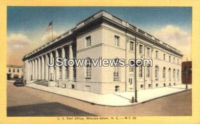 US Post Office - Winston-Salem, North Carolina NC Postcard