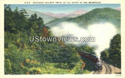 Southern Railway Train - Misc, North Carolina NC Postcard