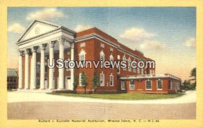Richard J. Reynolds Memorial Aud - Winston-Salem, North Carolina NC Postcard