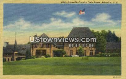 Asheville Country Club House - North Carolina NC Postcard