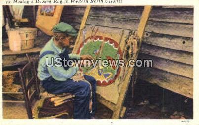Hooked Rug - Misc, North Carolina NC Postcard