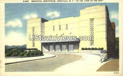 Municipal Aud - Asheville, North Carolina NC Postcard