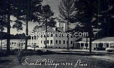 Scandia Village in the Pines - Raleigh, North Carolina NC Postcard