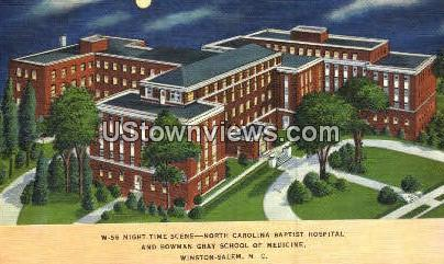 NC Baptist Hospital - Winston-Salem, North Carolina NC Postcard