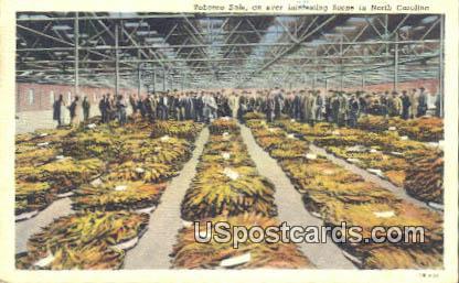Tobacco Sale - Misc, North Carolina NC Postcard