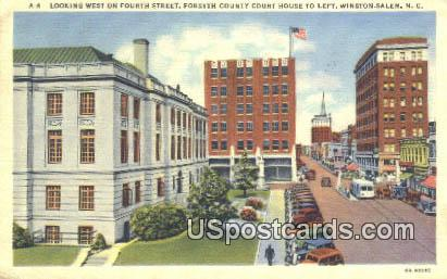 Fourth Street, Forsyth County Court House - Winston-Salem, North Carolina NC Postcard