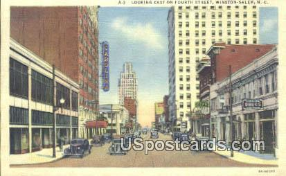 Fourth Street - Winston-Salem, North Carolina NC Postcard