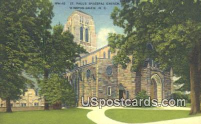 St Paul's Episcopal Church - Winston-Salem, North Carolina NC Postcard