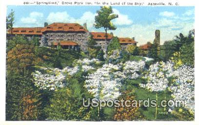 Springtime, Grove Park Inn - Asheville, North Carolina NC Postcard