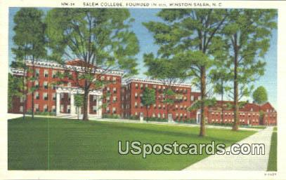 Salem College, 1771 - Winston-Salem, North Carolina NC Postcard