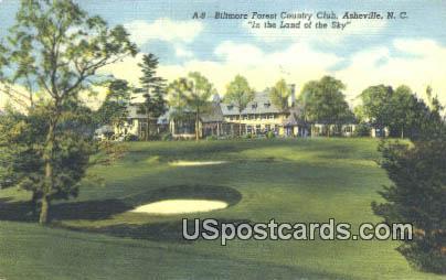 Biltmore Forest County Club - Asheville, North Carolina NC Postcard