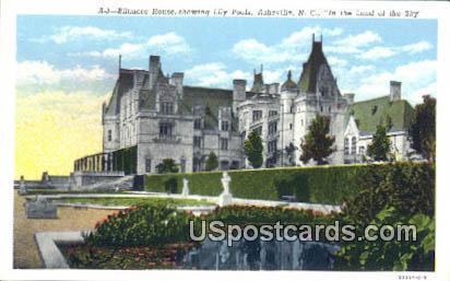 Biltmore House, Lily Ponds - Asheville, North Carolina NC Postcard