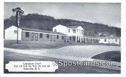 Lakeshore Court - Asheville, North Carolina NC Postcard