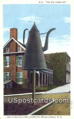 Big Coffee Pot - Winston-Salem, North Carolina NC Postcard