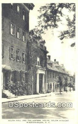 South Hall, Salem Academy - Winston-Salem, North Carolina NC Postcard