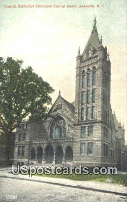Central Methodist Episcopal Church - Asheville, North Carolina NC Postcard