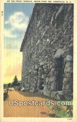 Front Terrace, Grove Park Inn - Asheville, North Carolina NC Postcard