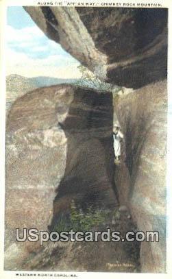 Chimney Rock Mountain - Western North Carolina Postcards, North Carolina NC Postcard