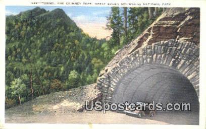 Tunnel & Chimney Tops - Great Smoky Mountains National Park, North Carolina NC Postcard