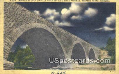 Linville River - Western North Carolina Postcards, North Carolina NC Postcard