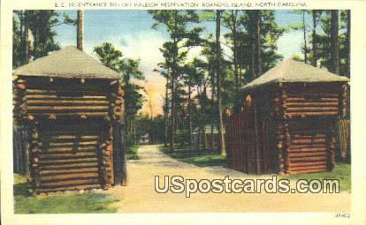 Fort Raleigh Reservation - Roanoke Island, North Carolina NC Postcard