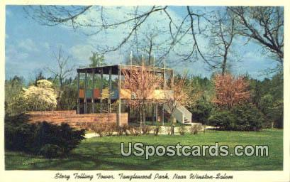 Story Telling Tower, Tanglewood Park - Winston-Salem, North Carolina NC Postcard