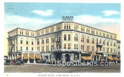 Elwood Hotel - High Point, North Carolina NC Postcard