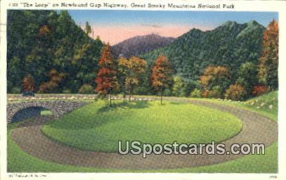 The Loop, Newfound Gap Highway - Great Smoky Mountains National Park, North Carolina NC Postcard