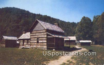 Log Buildings - Great Smoky Mountains National Park, North Carolina NC Postcard