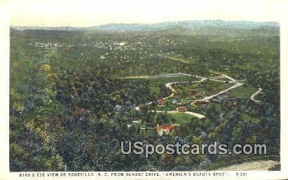 Sunset Drive - Asheville, North Carolina NC Postcard