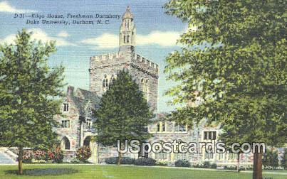 Kilgo House, Duke University - Durham, North Carolina NC Postcard