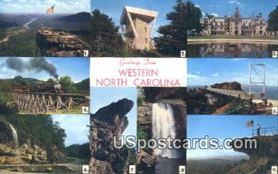 Western North Carolina, North Carolina Postcard      ;      Western North Carolina, - Western North Carolina Postcards