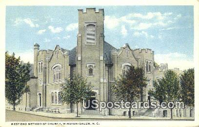 West End Methodist Church - Winston-Salem, North Carolina NC Postcard