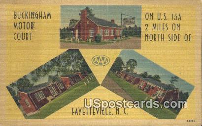Buckingham Motor Court - Fayetteville, North Carolina NC Postcard