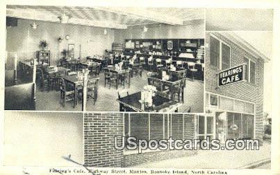 Fearing's Caf» - Roanoke Island, North Carolina NC Postcard