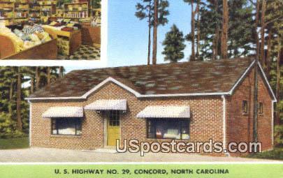 Towel Shop - Concord, North Carolina NC Postcard