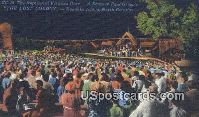 Baptism of Virginia Dare, Lost Colony - Roanoke Island, North Carolina NC Postcard