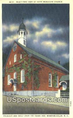 Home Moravian Church - Winston-Salem, North Carolina NC Postcard