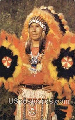 Indian Chief - Cherokee, North Carolina NC Postcard