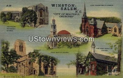 Winston - Salem - Winston-Salem, North Carolina NC Postcard