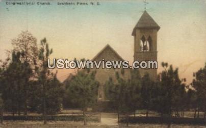 Congregational Church - Southern Pines, North Carolina NC Postcard