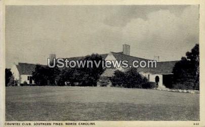 Country Club - Southern Pines, North Carolina NC Postcard