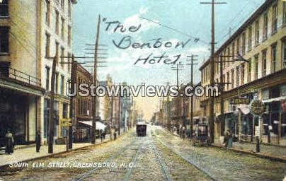 Elm St. - Greensboro, North Carolina NC Postcard