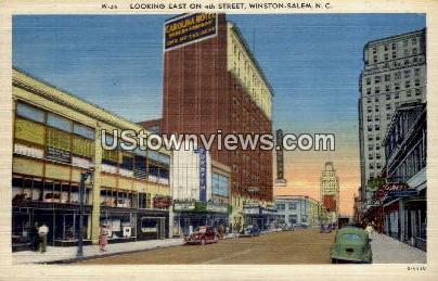 4th Street - Winston-Salem, North Carolina NC Postcard
