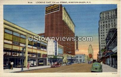 4th Street - Winston-Salem, North Carolina NC Postcard