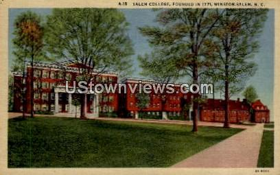 Salem College - Winston-Salem, North Carolina NC Postcard