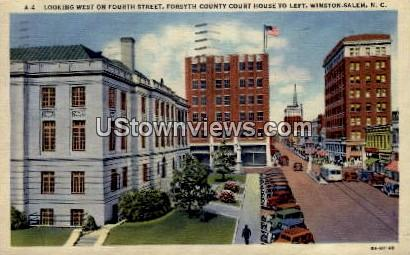 Forsyth County Court House, 4th Street - Winston-Salem, North Carolina NC Postcard
