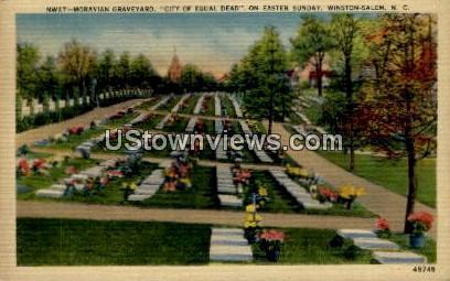 Moravian Graveyard - Winston-Salem, North Carolina NC Postcard